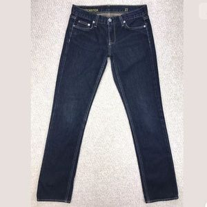 J. Crew Matchstick Jeans in Stretch Dark Rinse 27